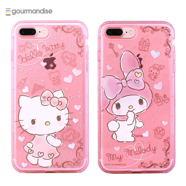 half off 368c9 c0350 gourmandise Hello Kitty & My Melody Transparent TPU Soft Back Cover Case  for Apple iPhone 8 Plus/7 Plus/7