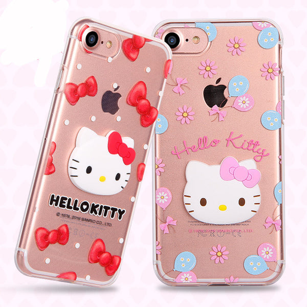 GARMMA Hello Kitty 3D TPU Soft Back Cover Case for Apple iPhone 8 Plus/7 Plus/8/7