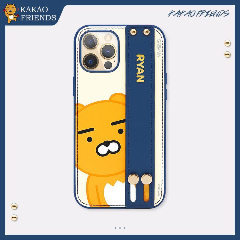 GARMMA Kakao Friends Adjustable Wrist Strap Kickstand Leather Cover Case