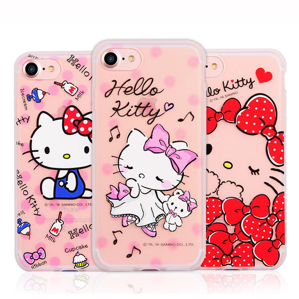 GARMMA Hello Kitty Matte Translucent TPU Soft Back Cover Case for Apple iPhone