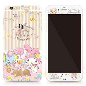 GARMMA My Melody & Little Twin Stars Back Cover Case w/ Tempered Glass Film for iPhone 6S Plus/6S/6