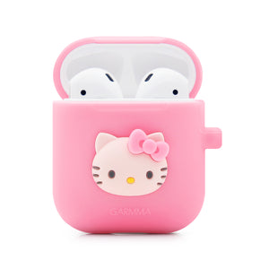 GARMMA Hello Kitty Shockproof Apple AirPods 2&1 Charging Case Cover with Carabiner Clip