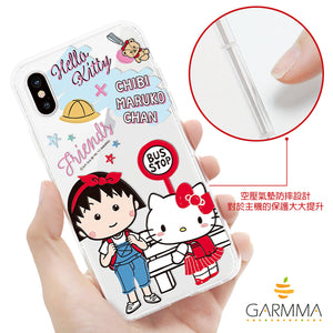GARMMA Hello Kitty x Chibi Maruko-chan Shockproof Air Barrier Transparent TPU Soft Back Cover Case