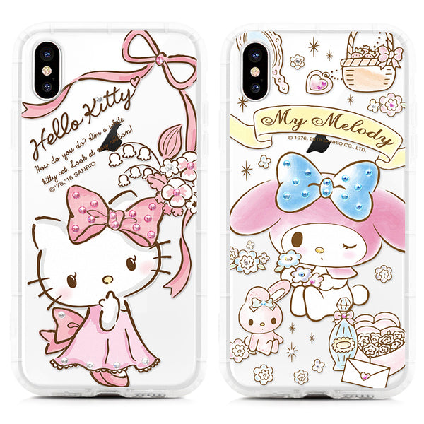 GARMMA Little Twin Stars & Hello Kitty & My Melody Crystal Air Bag Soft Back Case Cover