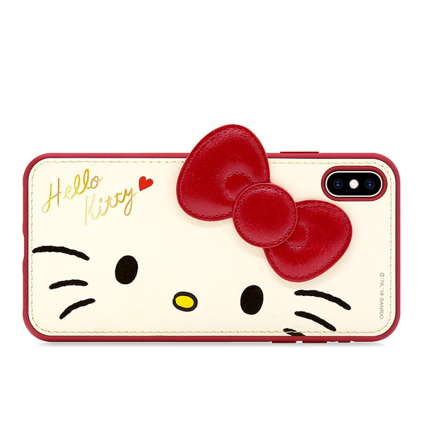 GARMMA Hello Kitty Gold Tooled Leather Case Cover for Apple iPhone