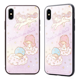 GARMMA Hello Kitty & Little Twin Stars & My Melody Tempered Glass Back Case Cover