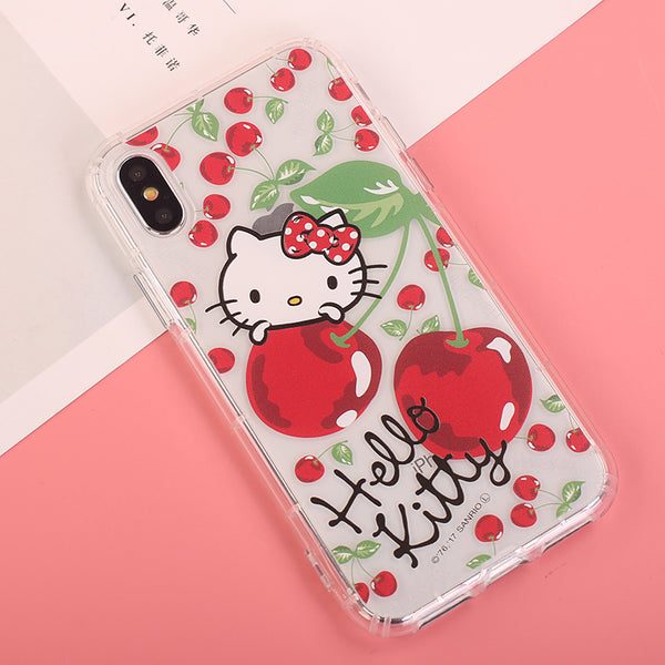 gourmandise Hello Kitty & My Melody & Little Twin Stars Shockproof Cover Case for Apple iPhone X
