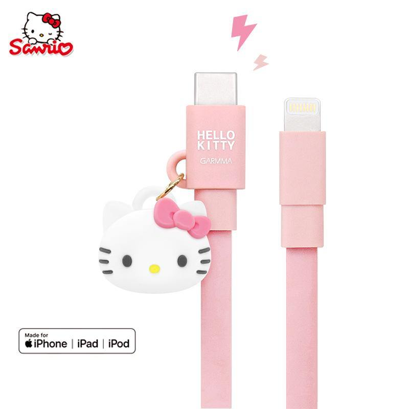 GARMMA Hello Kitty MFI 1.2M Doll Dangler Type-C to Apple Lightning PD Cable - Armor King Case