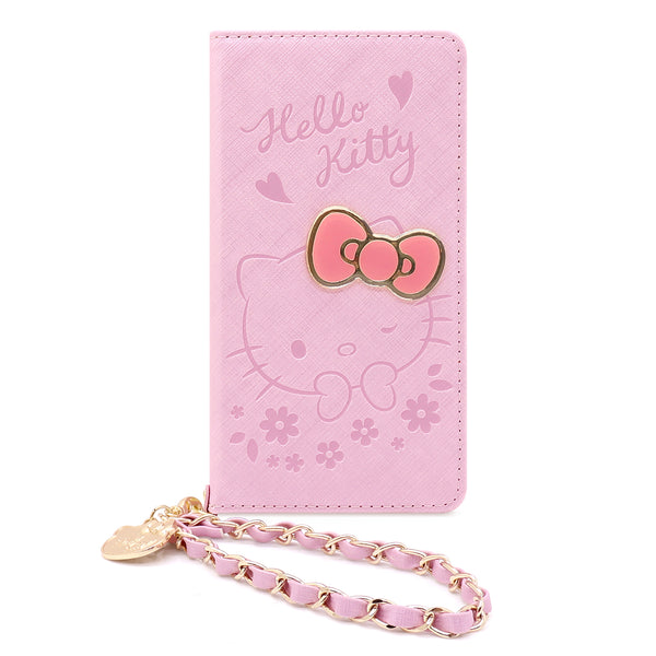 GARMMA Hello Kitty Love Wallet Leather Case with Wrist Strap for Apple iPhone XS Max/XS/X