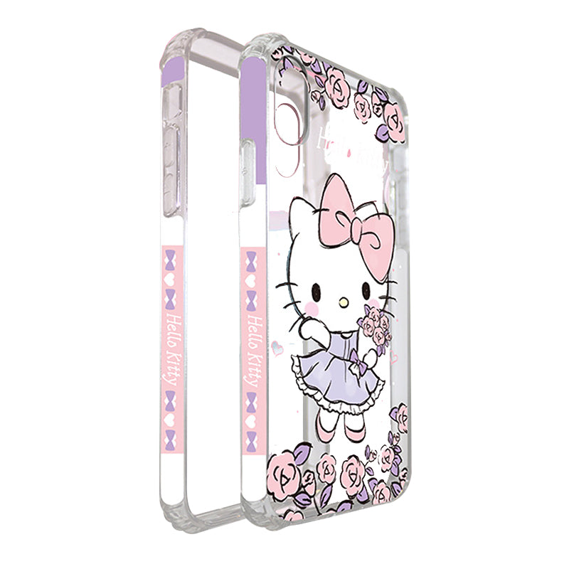 UKA Little Twin Stars & Hello Kitty & My Melody Air Bag TPU Frame Case Cover