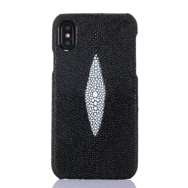 i-idea Luxury Genuine Stingray Skin Leather Hard Back Cover Case
