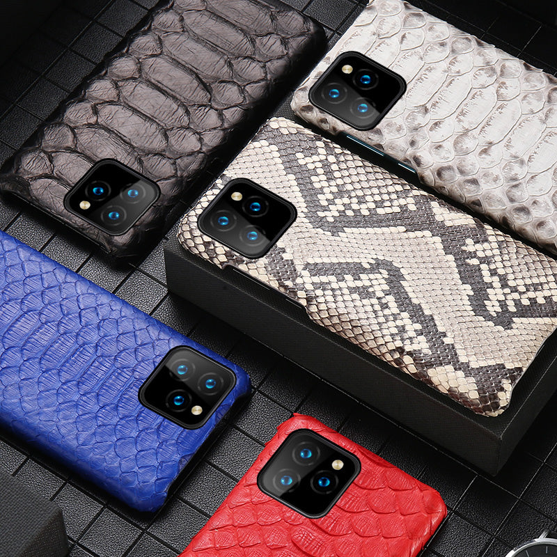 i-idea Handmade Luxury Python Snake Skin Genuine Leather Case Cove