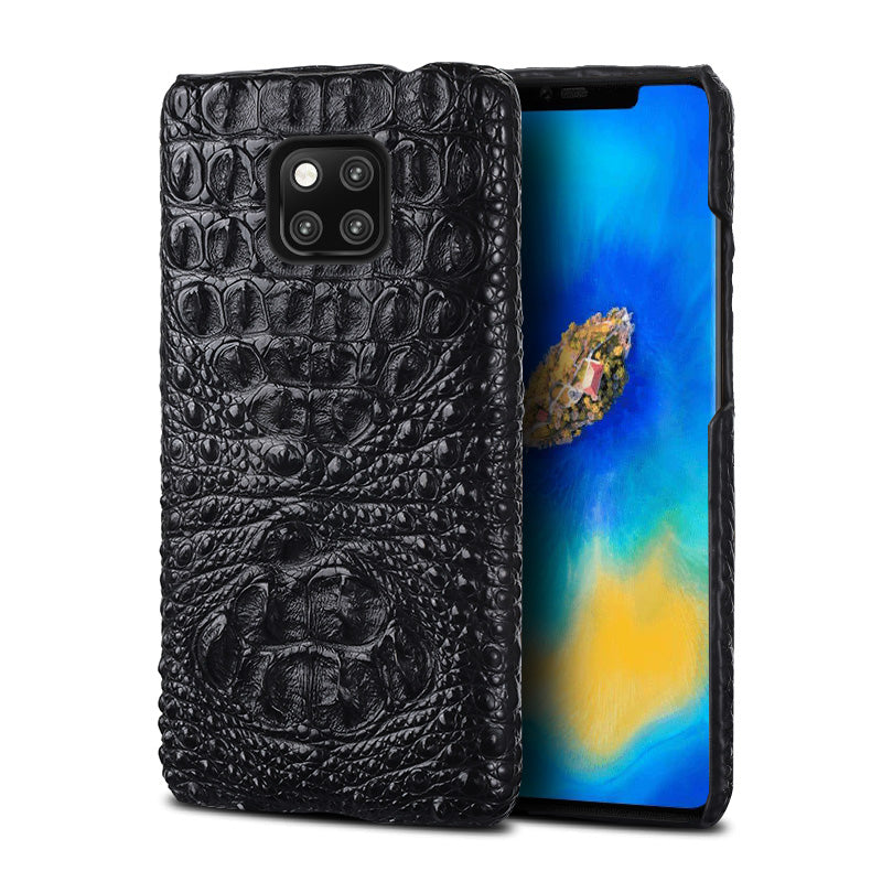 i-idea Handmade Luxury Genuine Real Crocodile Skin Leather Case Cover for Huawei Smartphones