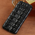 i-idea Handmade Luxury Genuine Real Crocodile Skin Leather Case Cover for Samsung Smartphones