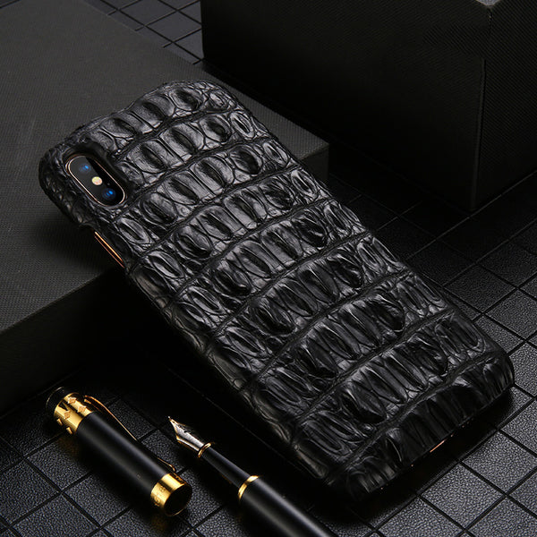 i-idea Handmade Luxury Genuine Real Crocodile Skin Leather Case Cover for Apple iPhone
