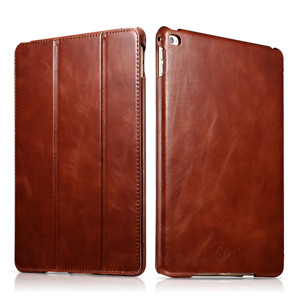 iCarer Vintage Series Genuine Leather Auto Wake/Sleep Smart Case Cover for Apple iPad