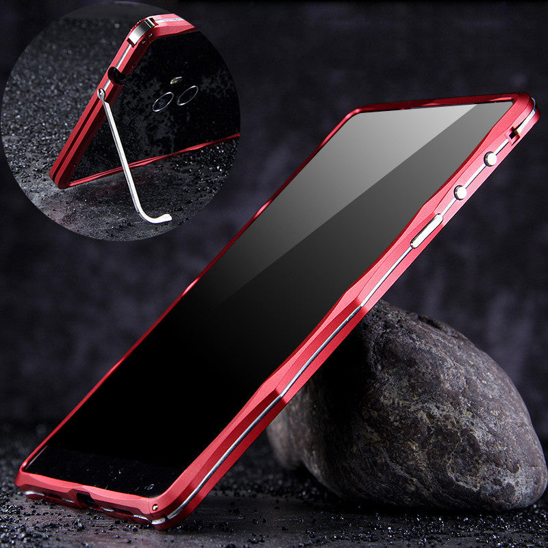 iMatch Slim Light Aluminum Metal Shockproof Bumper Case with Kickstand