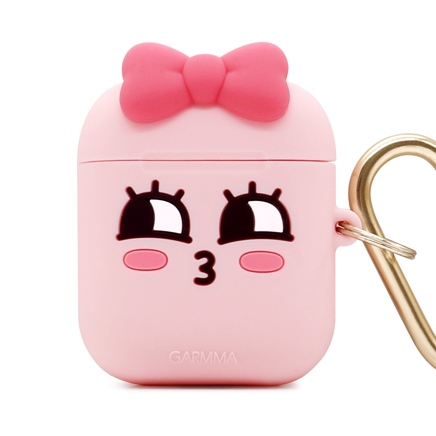 GARMMA Kakao Friends Shockproof Apple AirPods 2&1 Charging Case Cover with Carabiner Clip