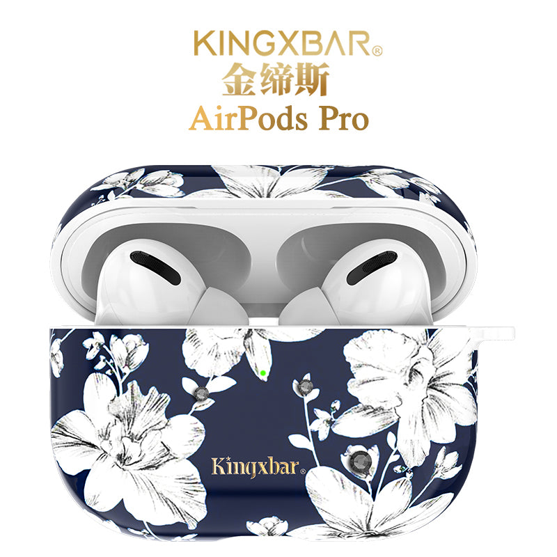 KINGXBAR Swarovski Crystals Ultra Thin Apple AirPods Pro Charging Case Cover