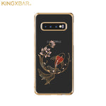 KINGXBAR Swarovski Crystal Clear Hard PC Case Cover for Samsung Galaxy S10 Plus & Galaxy S10