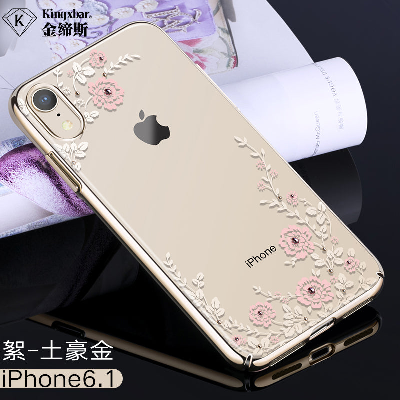 KINGXBAR Swarovski Crystal Clear Hard PC Case Cover for Apple iPhone XR