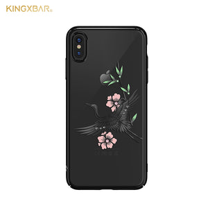 KINGXBAR Swarovski Crystal Clear Hard PC Case Cover for Apple iPhone XS/X