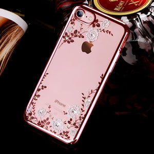 KINGXBAR Swarovski Crystal Clear Hard PC Case Cover for Apple iPhone SE (2020)