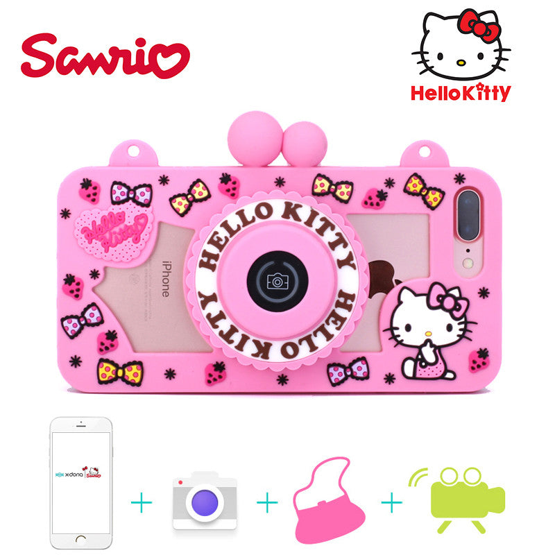 a10626188 Hello Kitty Camera Bluetooth Self Timer 3D Silicone Shockproof Case Co –  Armor King Case