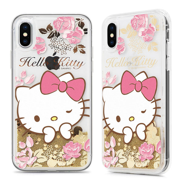 official photos 38cbe b513d GARMMA Hello Kitty Cameo Shiny Air Cushion Glitter Quicksand Back Case for  Apple iPhone XS/8 Plus/7 Plus