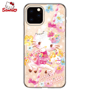 GARMMA Hello Kitty & My Melody & Little Twin Stars Swarovski Crystal Shockproof Soft Back Case Cover