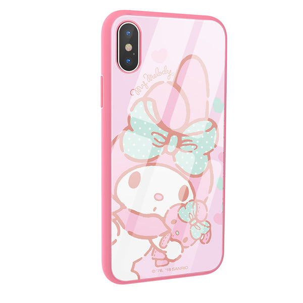 timeless design bb5ca 83244 X-Doria Hello Kitty & My Melody & Little Twin Stars Tempered Glass Back  Case for Apple iPhone XS/X