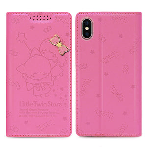GARMMA Hello Kitty & Little Twin Stars & My Melody Leather Wallet Case for iPhone XS/8 Plus/8/7