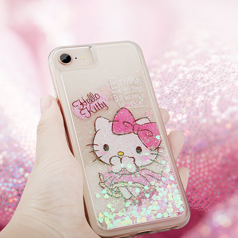 X-Doria Hello Kitty & My Melody & Little Twin Stars Air Cushion Glitter Quicksand Back Case
