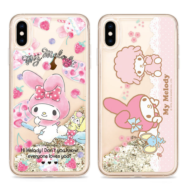 GARMMA Hello Kitty & Little Twin Stars & My Melody Air Cushion Glitter Quicksand Back Case Cover