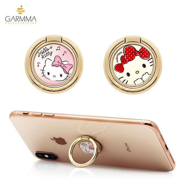 GARMMA Hello Kitty 360° Rotating Anti-drop Ring Stand Finger Grip Phone Holder