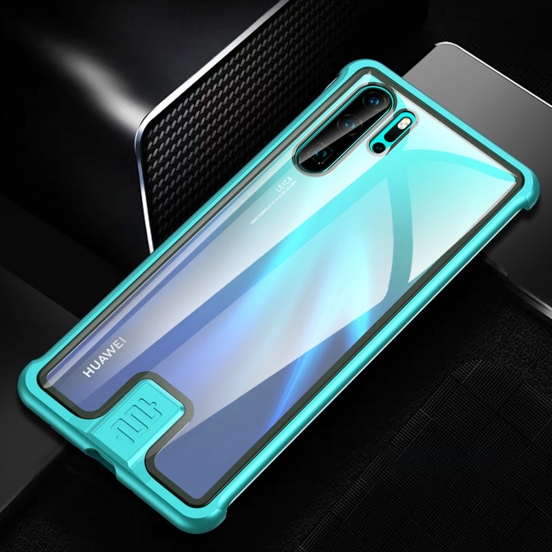 Kylin Armor Pull-Push Lock Borderless Aluminum Metal Frame Clear 9H Tempered Glass Back Cover Case