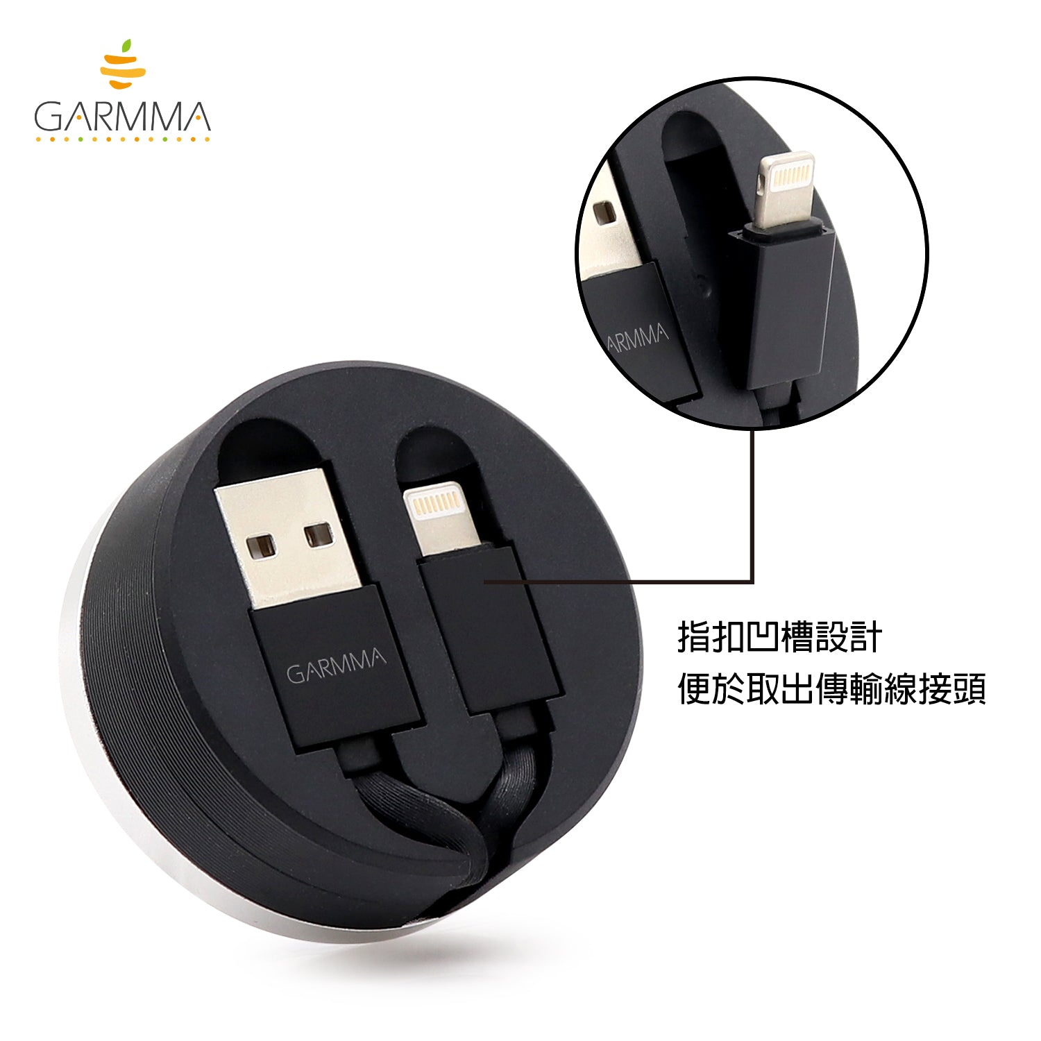 GARMMA Line Friends 90cm Apple Lightning / Type-C Extracted Extension Cable
