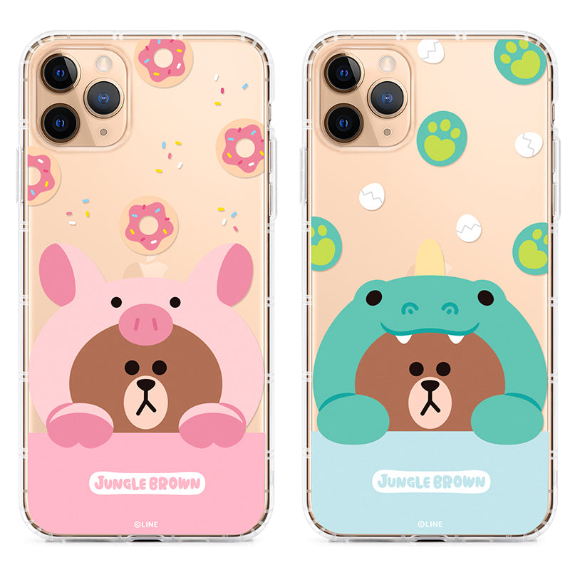 GARMMA Line Friends Jungle Brown Air Cushion Soft Back Case Cover for Apple iPhone