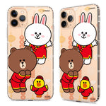 GARMMA Line Friends Rat New Year Air Cushion Soft Back Case Cover for Apple iPhone