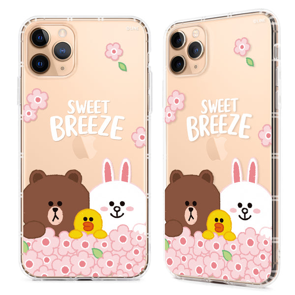 GARMMA Line Friends Picnic Air Cushion Soft Back Case Cover for Apple iPhone
