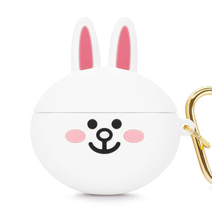 GARMMA Line Friends Shockproof Apple AirPods Pro Charging Case Cover with Carabiner Clip