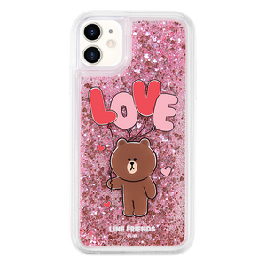 UKA Line Friends Love Glitter Case Shockproof TPU Soft Back Cover