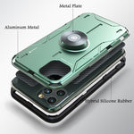 GINMIC Magic Shield Hybrid Silicone Aluminum Metal Case Cover w/ Revolving Bracket Stent