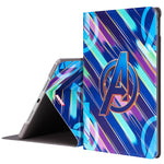 UKA Marvel Avengers Auto Sleep Folio Stand Dazzle Case Cover for Apple iPad
