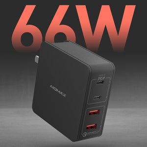 MOMAX One Plug 66W 4-Port Type-C PD Charger (Type-C PD x 2 + QC 3.0 USB x 2)