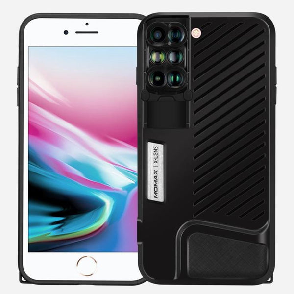watch fd4ca c3ce8 MOMAX 6-in-1 Lens Quick Switch Optical Lens Case for Apple iPhone 8 Plus/7  Plus