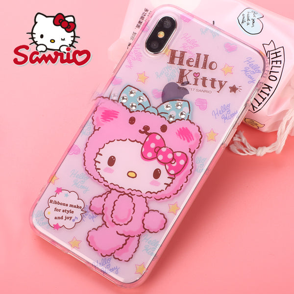 classic fit e2a2f 96907 X-Doria Hello Kitty Nifty Bear Swarovski Diamonds Case Cover for Apple  iPhone XS/X