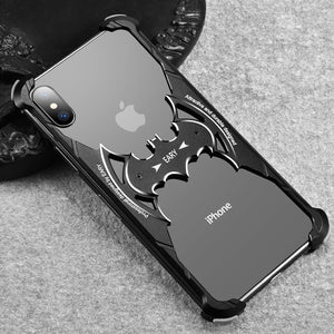 Oatsbasf Batman Airbag Shockproof Aluminum Bumper Metal Case Cover