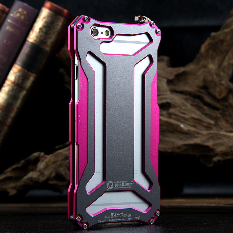 R-Just Gundam Aerospace Aluminum Contrast Color Shockproof Metal Shell Outdoor Protection Case