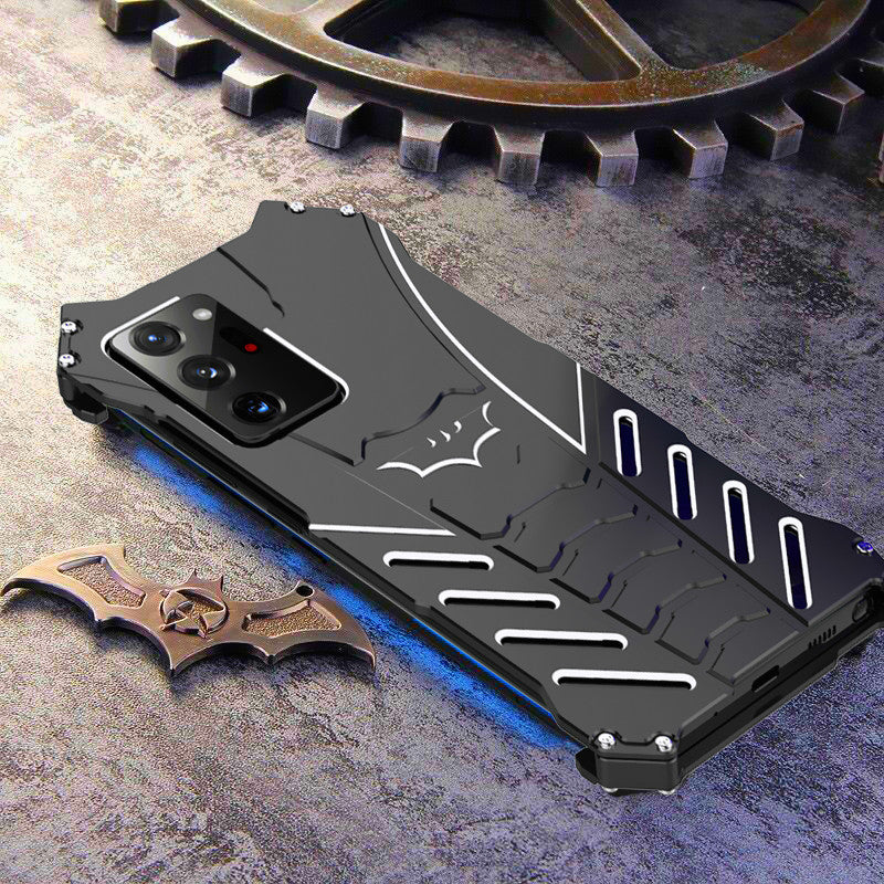 R-Just Batman Shockproof Aluminum Shell Metal Case with Custom Batarang Stent